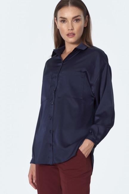 CM5511 Koszula satynowa z...