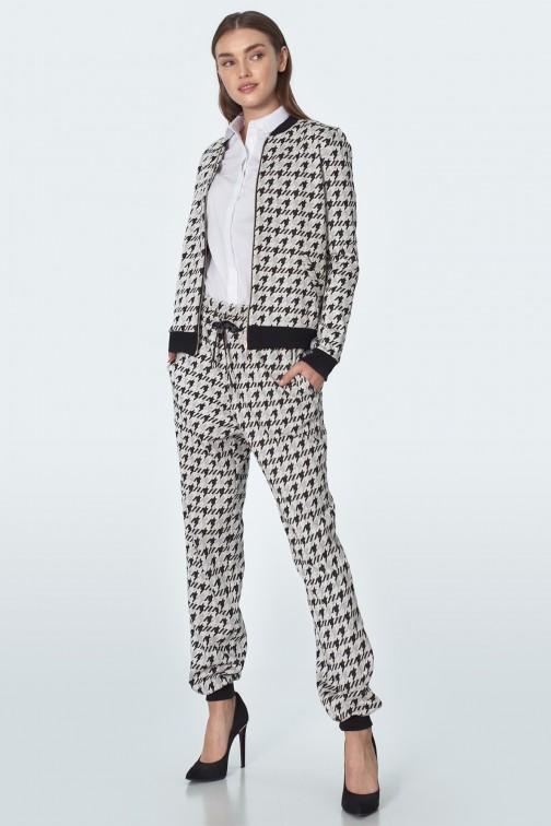 CM5517 Spodnie dresowe na kant - pepitko