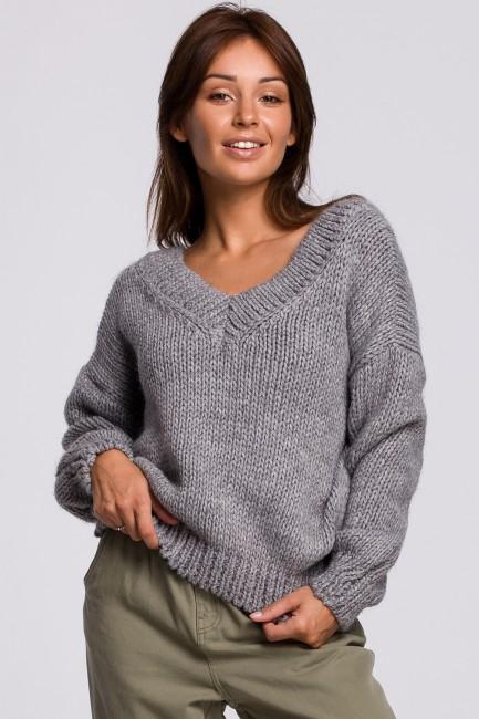 CM5523 Sweter z dekoltem V...