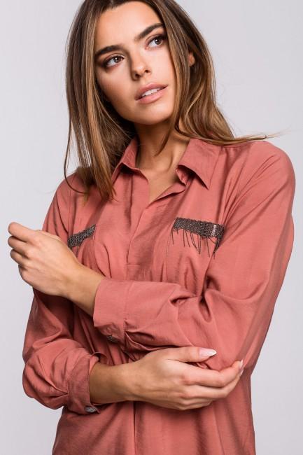 CM5537 Bluzka koszulowa z...