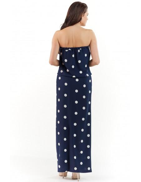 Stylowa sukienka maxi bez pleców