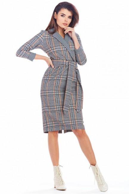 CM5559 Trapezowa sukienka z...