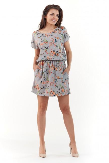 CM3763 Sukienka mini z...