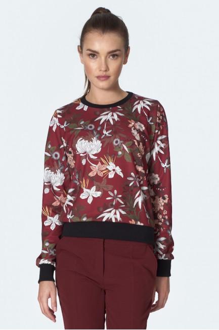 CM5596 Bluza w kwiaty ze...