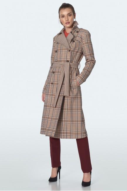 CM5597 Dwurzędowy płaszcz z...