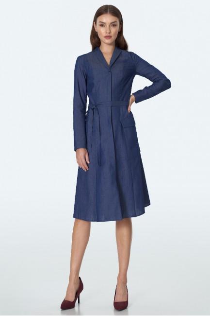 CM5599 Jeansowa sukienka midi