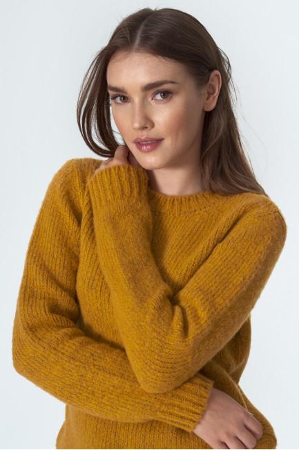 CM5605 Klasyczny sweter z...