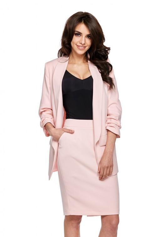 Elegancka marynarka damska - różowa