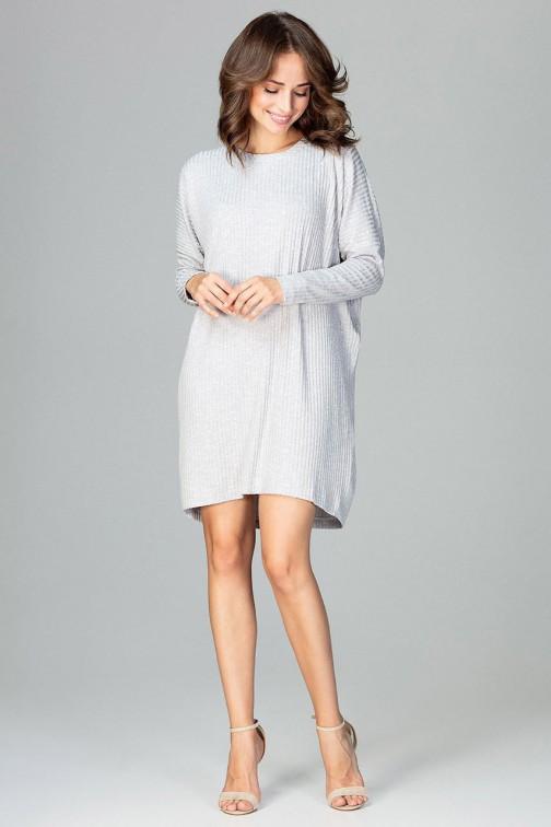 CM3781 Luźna sukienka oversize - szara