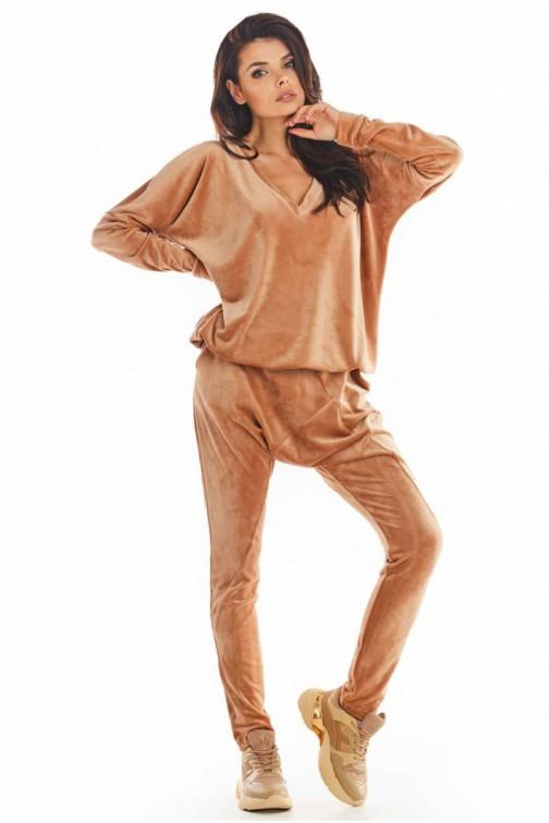 CM5655 Spodnie z obniżonym krokiem - beżowe
