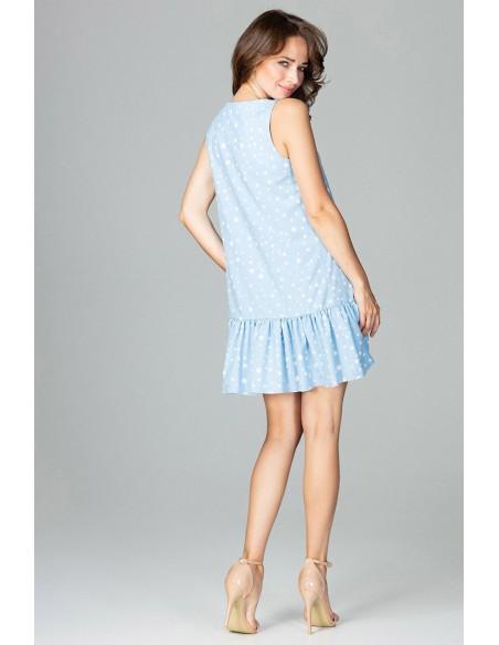 Zwiewna sukienka z falbanką - wzór 96