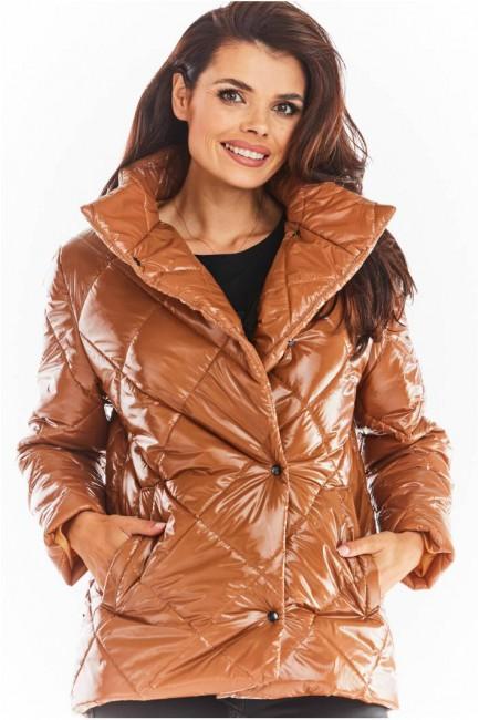 CM5663 Pikowana kurtka z...