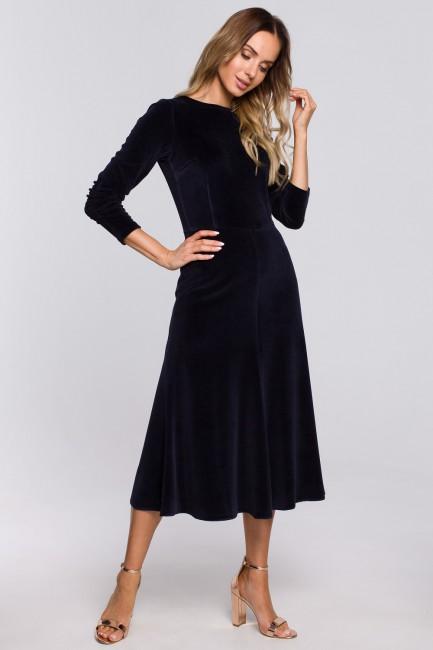 CM5665 Welurowa sukienka...