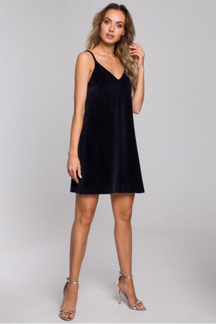 CM5668 Welurowa sukienka na...