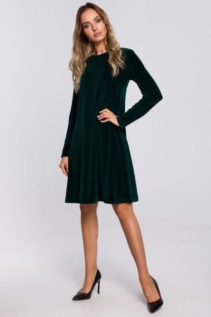 CM5674 Trapezowa sukienka z...