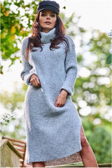 CM5685 Swetrowa sukienka z...