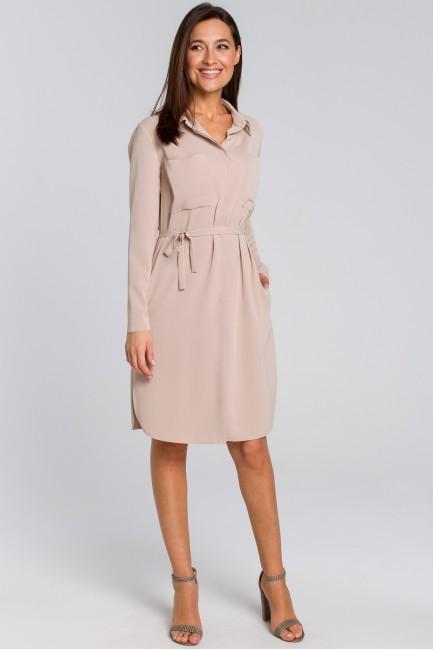 CM4133 Sukienka koszulowa z...