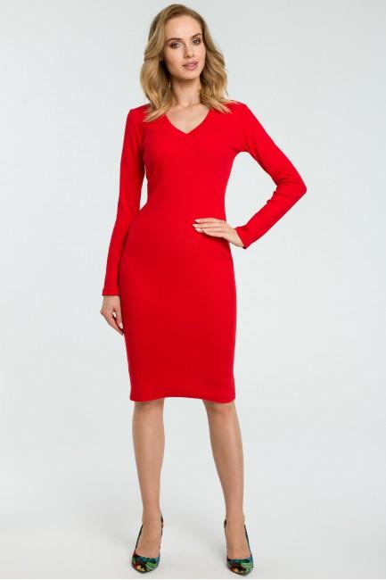 CM3807 Ołówkowa sukienka z...