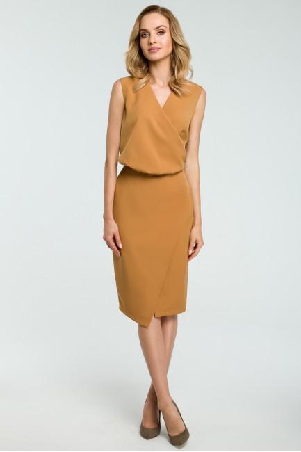 CM3809 Biurowa sukienka z...