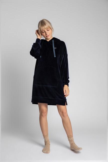 CM5704 Welurowa sukienka z...