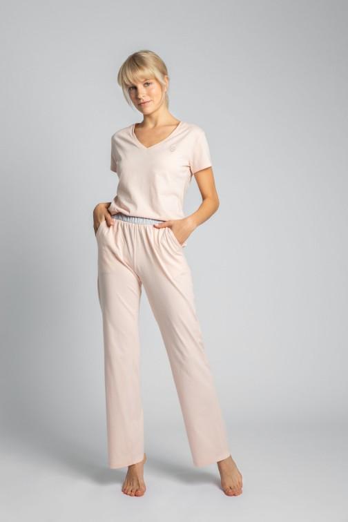 CM5710 Bawełniane spodnie do spania - brzoskwiniowe