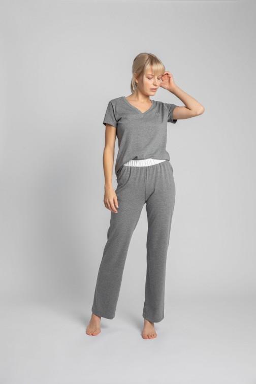 CM5710 Bawełniane spodnie do spania - szare