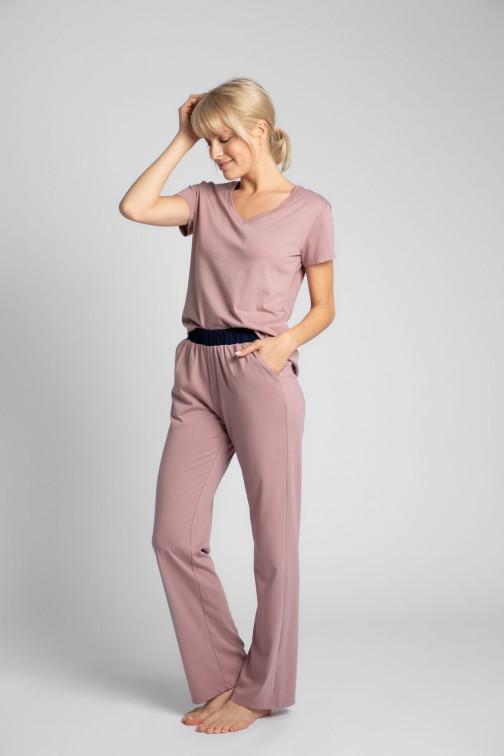 CM5710 Bawełniane spodnie do spania - wrzosowe