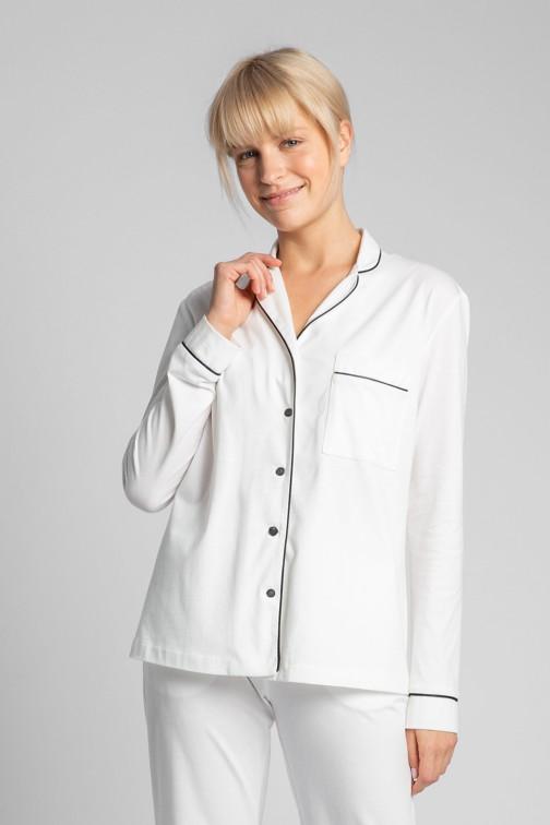 CM5713 Bawełniana koszula od piżamy - ecru