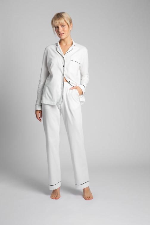 CM5714 Bawełniane spodnie od piżamy - ecru