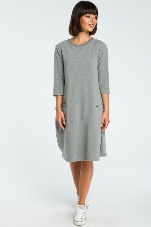 CM3797 Kobieca sukienka bombka - szara