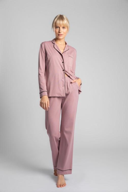 CM5714 Bawełniane spodnie od piżamy - wrzosowe
