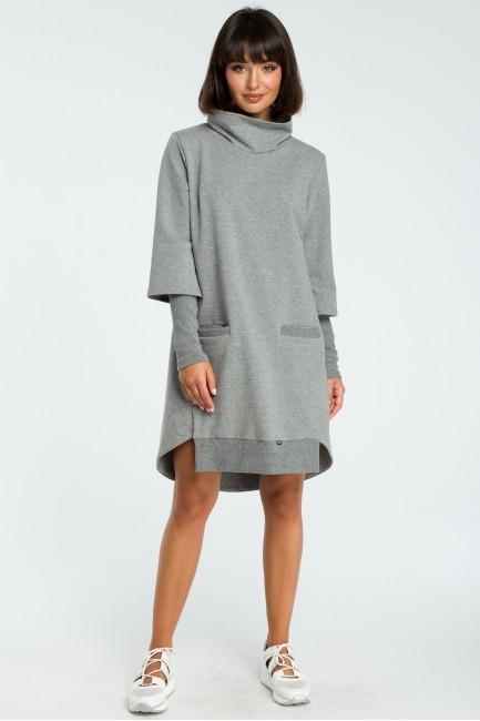 CM3818 Sukienka z golfem i...