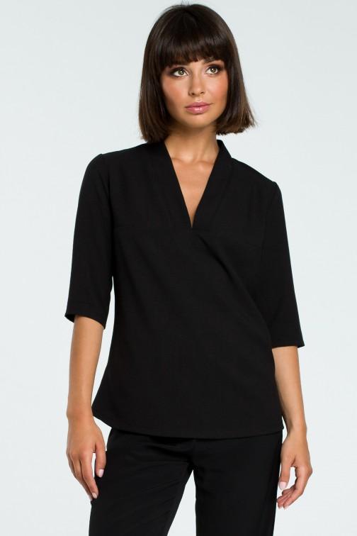 Kobieca bluzka koszulowa - czarna