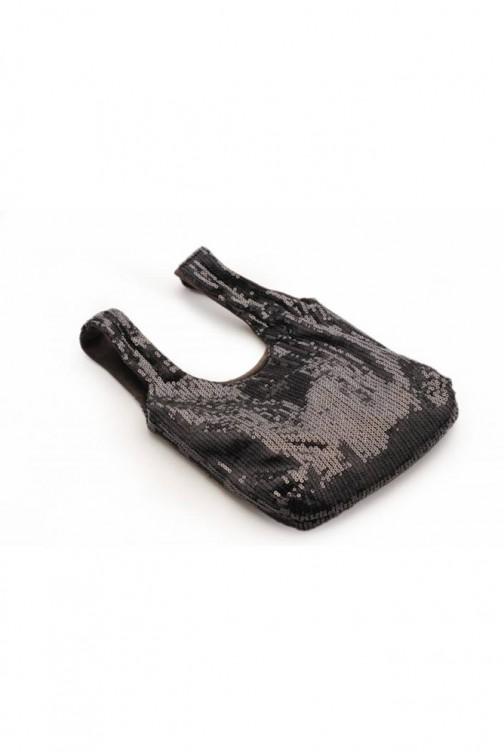 CM5760 Cekinowa torebka do ręki - czarna