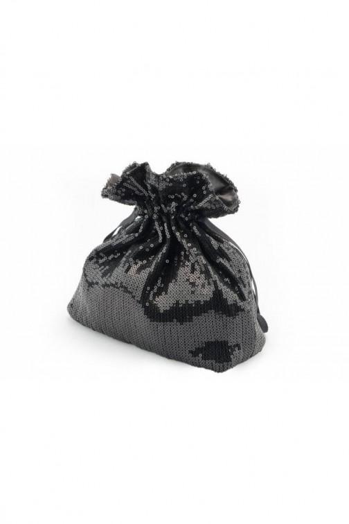 CM5761 Stylowa cekinowa torebka - czarna