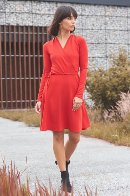 CM3821 Sukienka midi z...