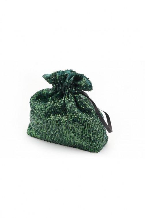 CM5761 Stylowa cekinowa torebka - zielona