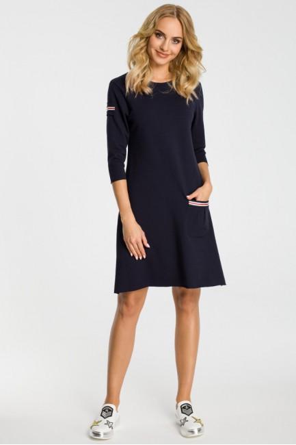 CM3308 Trapezowa sukienka z...