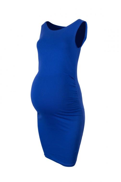 CM5775 Sukienka ciążowa na ramiączkach - chabrowa