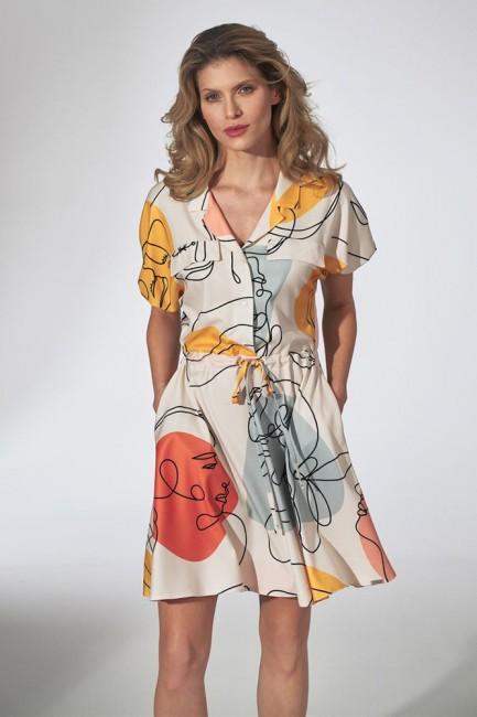 CM5807 Sukienka kimono z...