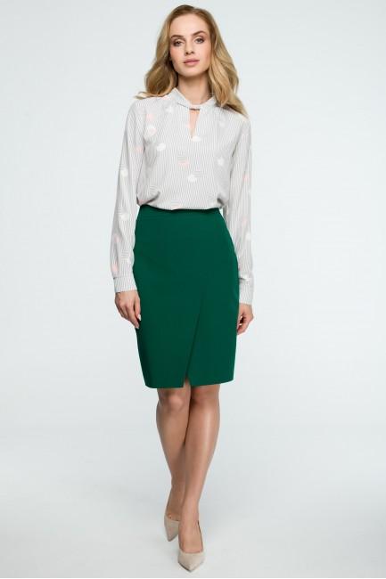 Spódnica ołówkowa midi - zielona