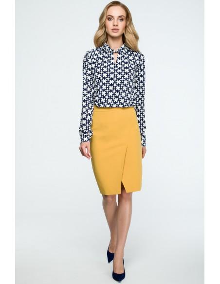 Spódnica ołówkowa midi - żółta
