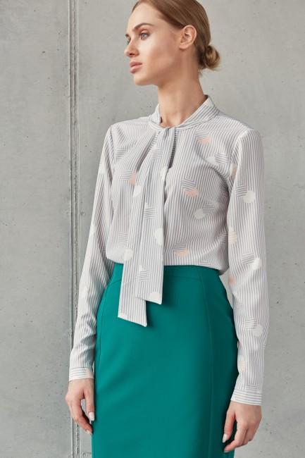 Bluzka z wiązaniem pod szyją - model 2