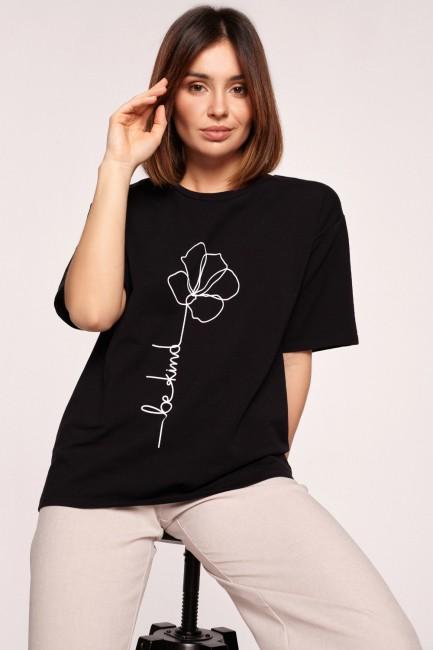 CM5847 Klasyczny t-shirt z...