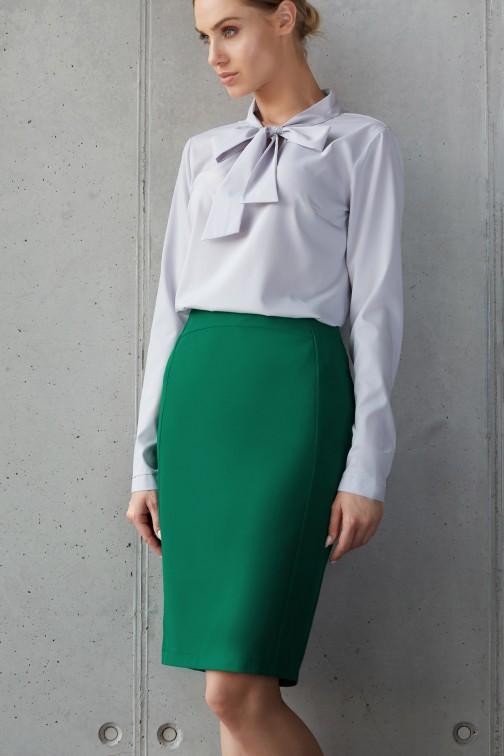 Prosta ołówkowa spódnica biurowa - zielona