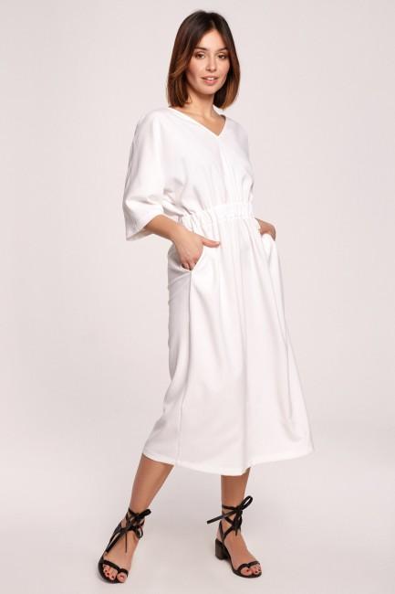 CM5852 Sukienka midi z gumą...