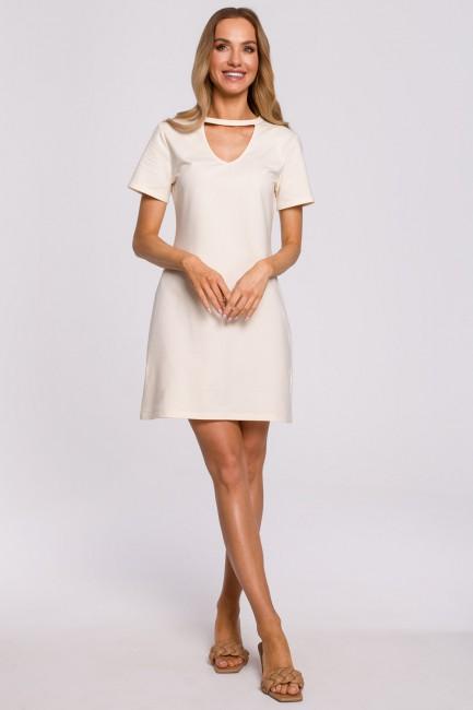 CM5870 Sukienka trapezowa z...