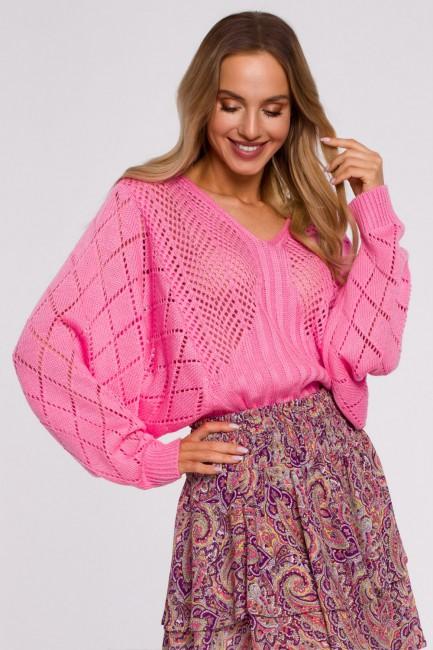 CM5886 Sweter z rękawami...