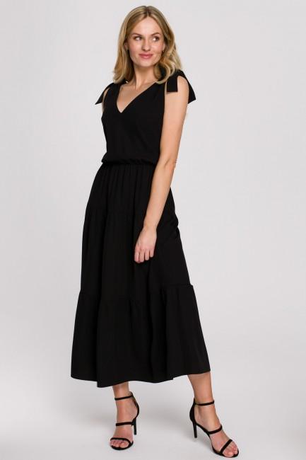 CM5893 Sukienka z wiązanymi...