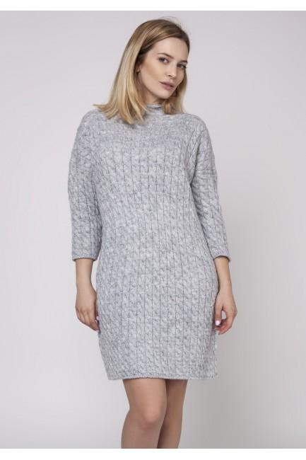 CM3862 Miękka sukienka ze...